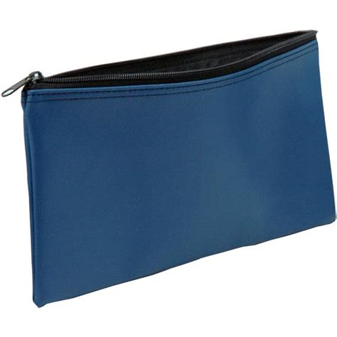 bag bank blue vinyl zipper bag 11 x 6 quot