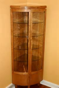 Lighted Hutch Handmade Corner Curio Cabinet By Whim Wood Custom