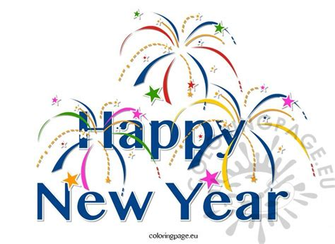new year clip clipart happy new year coloring page