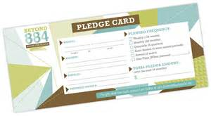Pledge Card Templates Beyond 884 Campaign Exclamation Communications Inc