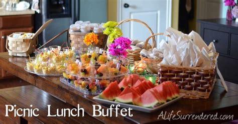 picnic lunch buffet decorating ideas pinterest