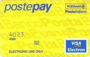 tarjeta de banco poste pay poste italiane italia col