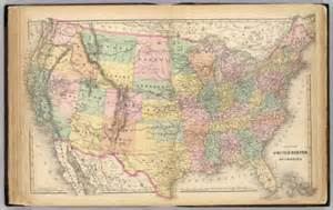 map of the united states of america g w c b colton