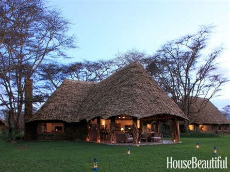 compound   palm thatched cottages  rounded