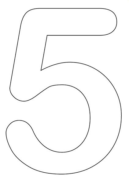 Coloring Page Number 5 by Printable Number Coloring Pages For Preschool Colorings Net