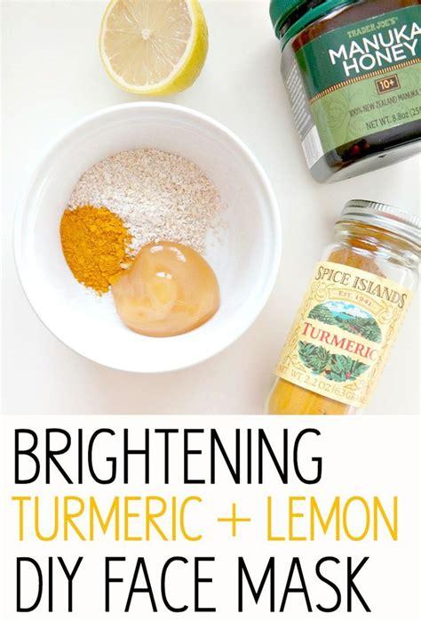 diy mask honey brightening turmeric and lemon diy mask recipe honey masks and masks