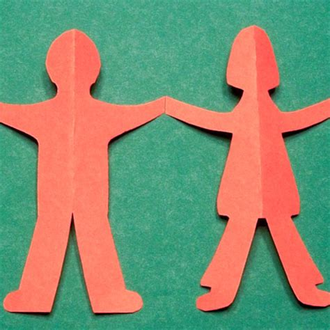 Paper Chain Dolls - paper doll template