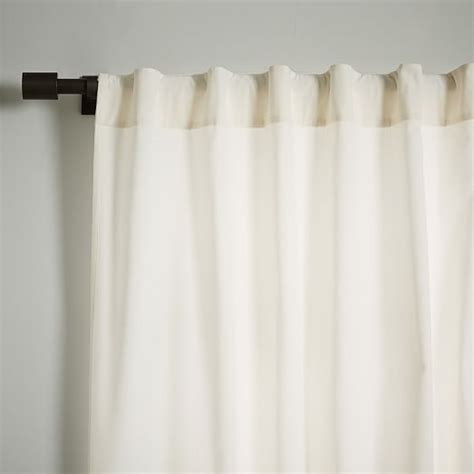 pole pocket drapes velvet pole pocket curtain ivory west elm