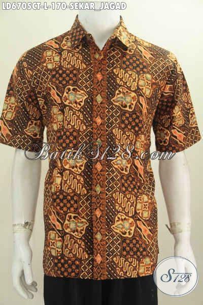 batik sekar jagad klasik hem batik klasik sekar jagad baju batik lengan pendek