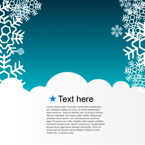 winter templates winter template greeting card vector free