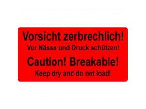 Aufkleber Paket Zerbrechlich by Versandetiketten Vorsicht Zerbrechlich