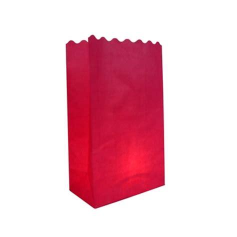 Luminaries Paper Bags - fuchsia pink solid color paper luminaries luminary