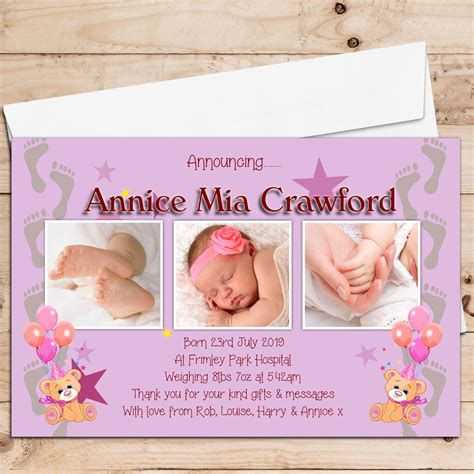 66 best birth announcement templates images on pinterest baby