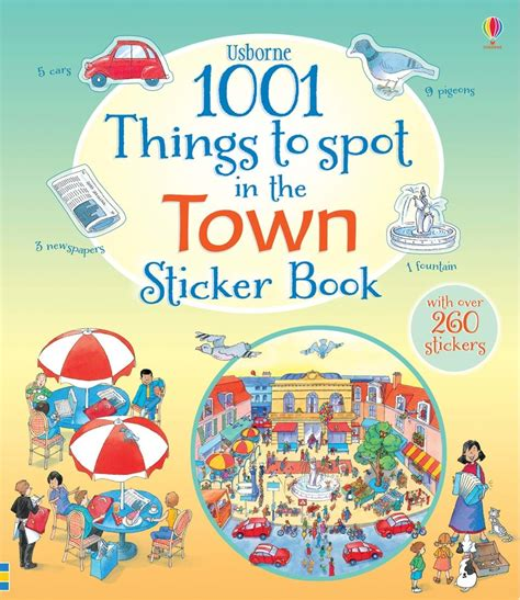 Usborne Book Of Things To Spot Out And About Board Book 1 1001 things to spot in the town sticker book at usborne