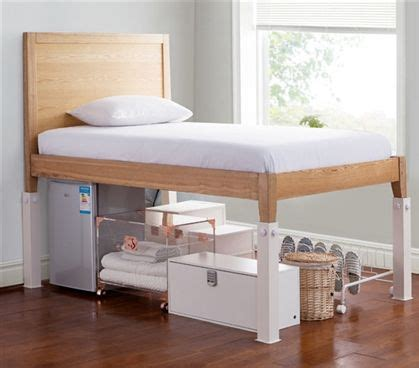 steel bed risers suprima ultimate height bed risers carbon steel white