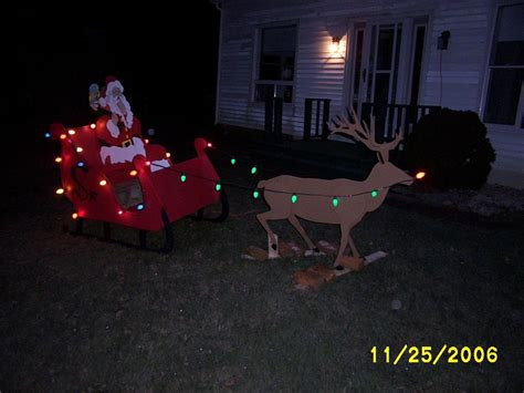santa sleigh and reindeer yard art part 2