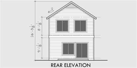 narrow lot house plans small house plans with garage 10105