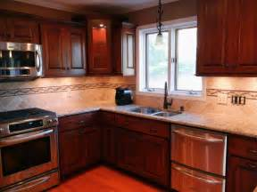 kitchen backsplash cherry cabinets kitchen backsplash ideas with cherry cabinets fireplace
