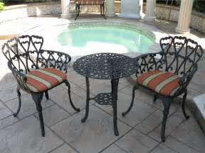 cast aluminum patio furniture black home designs
