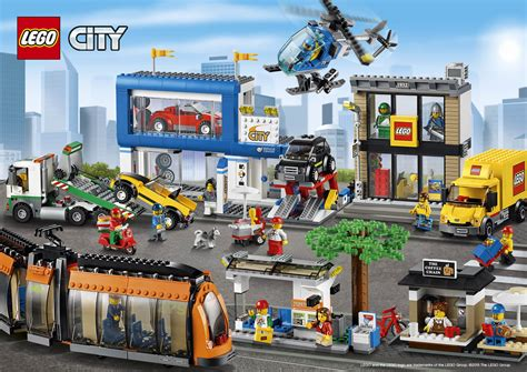 Lego City by 60097 City Square Poster Lego 174 City Activities City