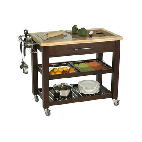 Chris And Chris Kitchen Cart by Chris Chris Pro Chef Kitchen Island With Granite Top