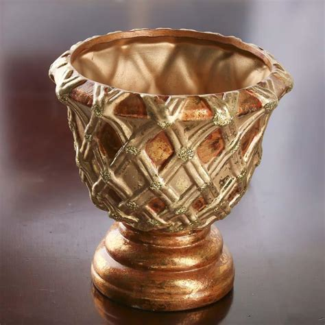 Gold Pedestal Vase by Copper And Gold Ceramic Pedestal Vase Table And Shelf
