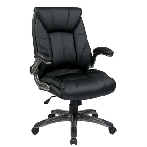 Office Chair Faux Leather by Faux Leather Mid Back Managers Office Chair In Black