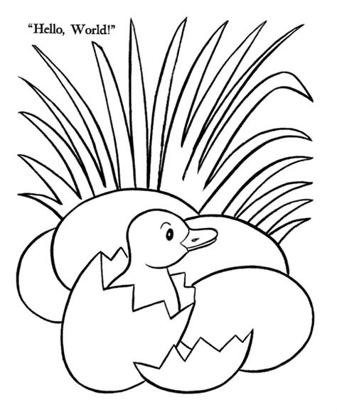 coloring pages duck egg grass coloring page coloring home