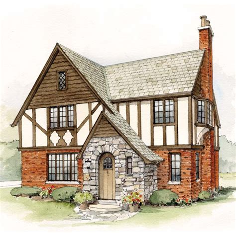 Tudor Cottage by Early 20th Century Suburban House Styles House