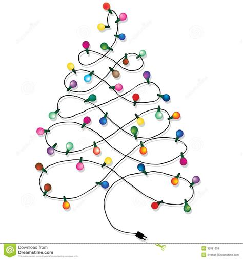 how to string lights on a christmas tree string of lights black and white clipart clipart suggest