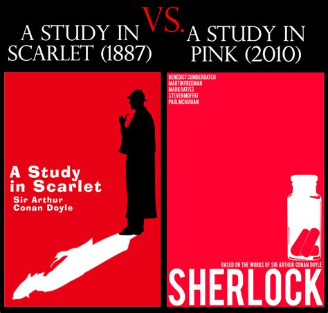 A In A Study In Scarlet Versus A Study In Pink From Print To Screen