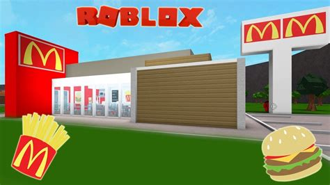 build a building online roblox bloxburg mcdonald s speed build and tour youtube