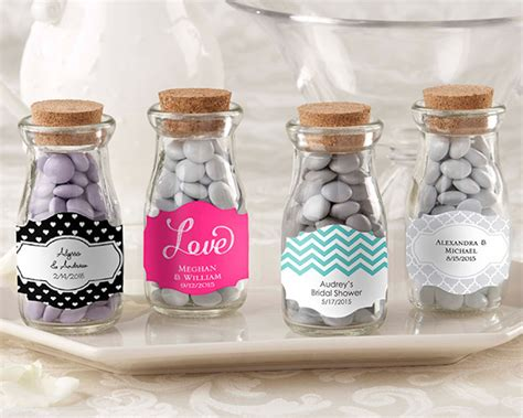 """Vintage"" Personalized Milk Favor Jar (Wedding) (Set of 12)"