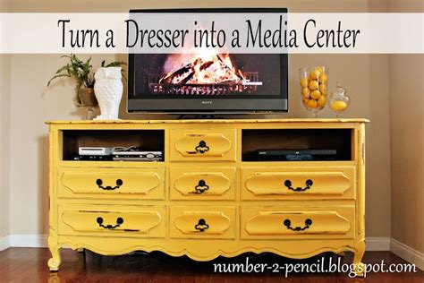 How To Turn A Dresser Into A Tv Stand by Vintage Dresser Into Media Center