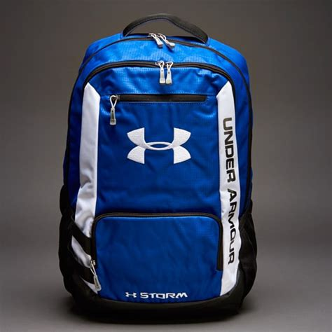 armour hustle backpack bags  luggage blue