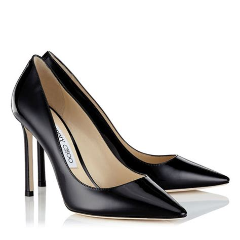 Get Your Groove On With Jimmy Choo Patent Shoes by Black Patent Leather Pointy Toe Pumps Romy 100 Pre