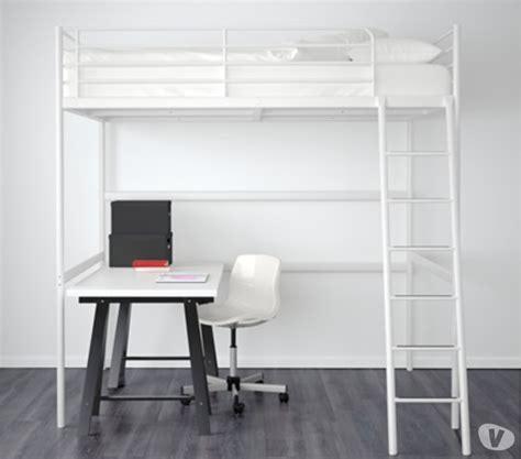 bureau 騁ag鑽e ikea lit mezzanine blanc clasf