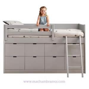 lit combin 233 enfant 8 tiroirs de rangement liso asoral ma