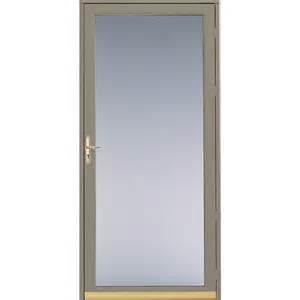 Glass Door Screen Shop Pella Putty View Safety Aluminum Glass And Interchangeable Screen Door Common