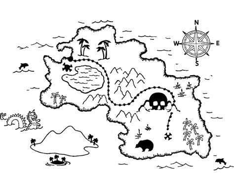 treasure maps coloring pages and hunt s on pinterest