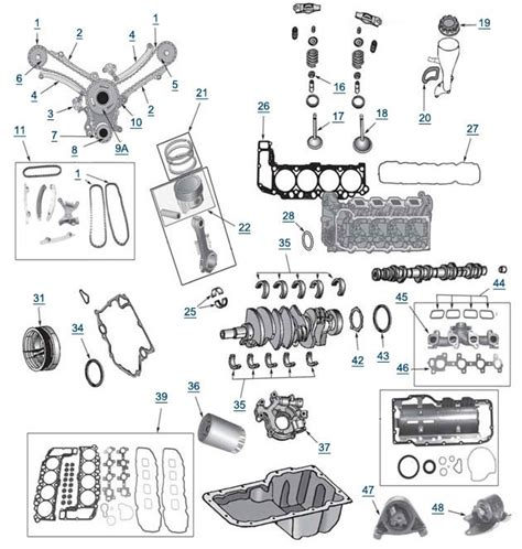 1996 jeep parts diagram wj grand 4 7l engine parts 4 wheel parts with