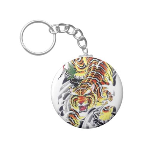 keychain tattoo designs japanese tiger design keychain zazzle