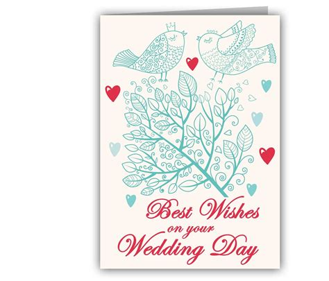 romancing birds wedding greeting card giftsmate - Greeting Card With Gift Card