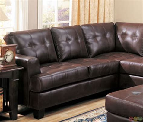 brown leather l shaped sofa samuel brown bonded leather sectional sofa contemporary l