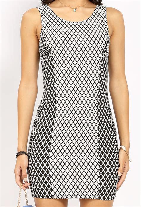 diamond pattern on clothes diamond pattern mini dress shop dresses at papaya clothing