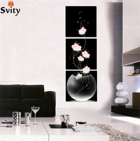 3 free shipping sell modern 3 pieces free shipping popular sell modern wall painting abstract flowers home wall