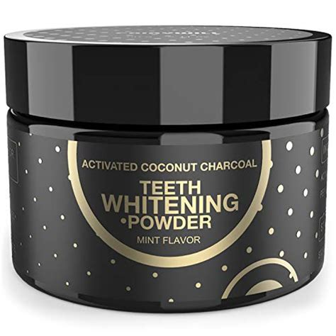 activated charcoal teeth whitening powder peppermint