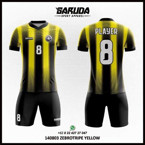 desain jersey futsal warna hitam jasa desain kaos futsal kuning hitam garuda print