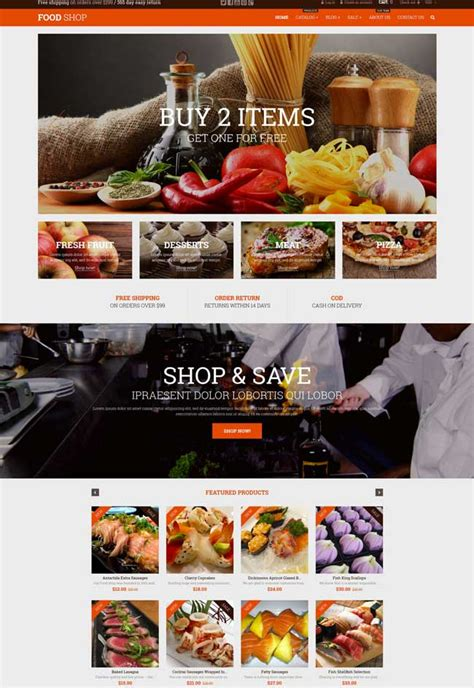 shopify grocery themes 10 best shopify themes for bakeries and coffee shops 2016