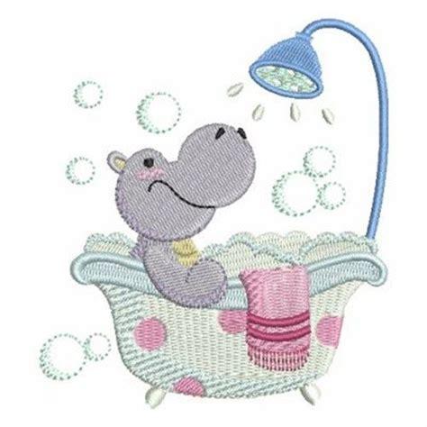 bathroom embroidery designs bath time hippo embroidery design embroidery machine